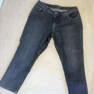 RIDERS BY LEE Dark Wash Straight Leg Jeans 20W